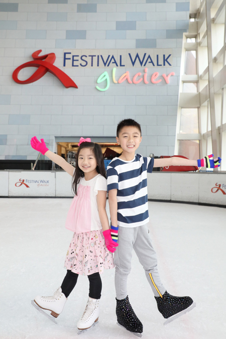 「又一城歡天雪地」鼓勵大眾齊齊溜冰