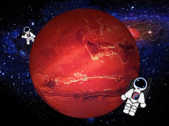 大型火星主題萬聖節拍照區