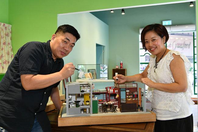 微型食品藝術家 陳慧姬小姐 香港微型藝術家 黎熾明先生