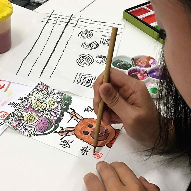 日式自癒工作坊-絵手紙-學生作品-1