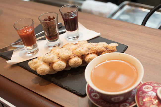 蘿蔔糕鹹雞蛋仔 ($90) & 熱薑奶茶 ($20)_resized