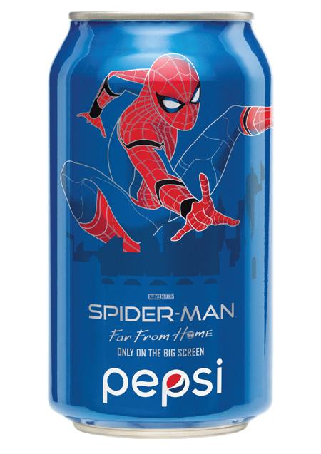 《蜘蛛俠:決戰千里》百事可樂收藏罐_Homecoming戰衣