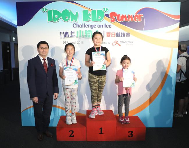 各組別以最短時間完成所有競技項目的參賽者奪得冠軍榮譽—「冰上小鐵人」