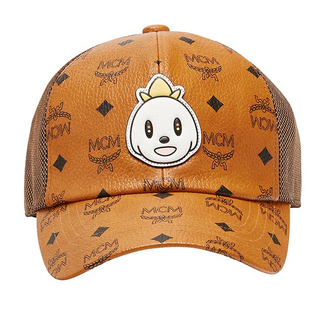 [$2,200]MCM X EDDIE KANG MESH CAP in VISETOS_COGNAC