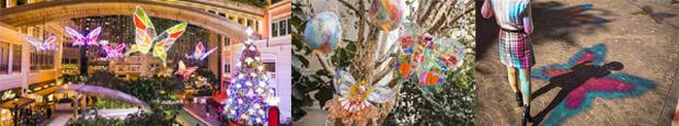 「利東街」Butterflies of Hope   全球首個AI蝴蝶光影藝術裝置
