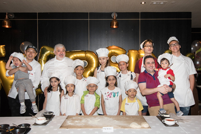 Chef Umberto BOMBANA with Attended Guests