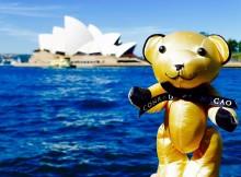 Conrad Bear visits Sydney Opera House