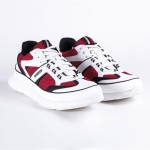 LANDMARK Exclusive_Dior Homme_Sneakers in Red Mesh and White Calfskin