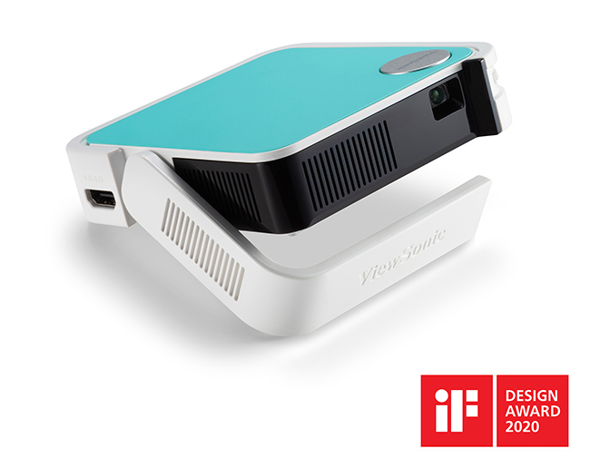 M1 mini LED口袋投影機,其超迷你尺寸和傑出的整體設計更榮獲2020年iF設計獎。