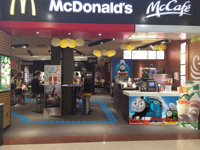 McDonald's at Plaza Hollywood_Thomas & Friends_1