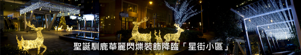 聖誕馴鹿華麗閃爍裝飾降臨「星街小區」