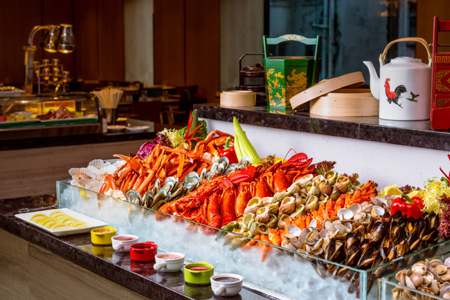 冰鎮海鮮 Ice-chilled seafood buffet